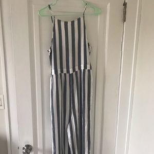 Striped jumpsuit!